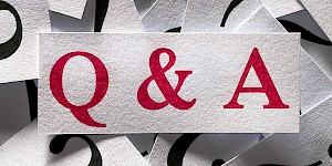 Q & A ribbon. FAQ in payroll compliance.