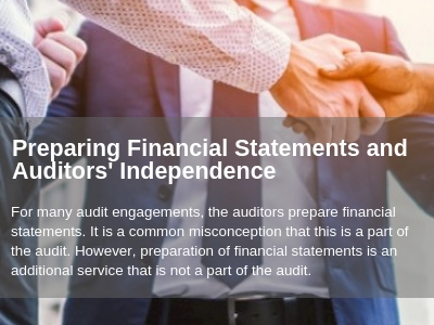 Management must understand that preparation of financial statements by the auditor does not change the fact that management is responsible for those financial statements.